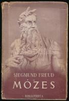Siegmund Freud: Mózes és az egyistenhit. Bp., 1946, Bibliotheca. Ford.: F. Ozorai Gizella. Kiadói kartonált papírkötés, kopottas állapotban. Kiadói szakadozott papír védőborító.