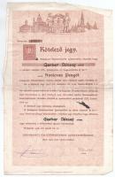 Budapest 1928. Budapesti Építőmesterek Ipartestülete névre szóló kötelezőjegye 80P-ről, illetékbélyeggel T:III