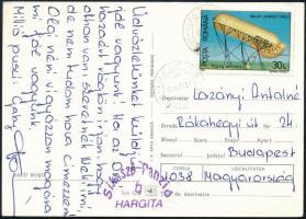 1993 Képeslap a Sikaszó panzióból Budapestre