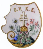 DN D.V.K.E. aranyozott, zománcozott jelvény (33x31mm) T:1-