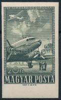 1957 Repülő záróérték ívszéli vágott bélyeg (15.000) / Mi 1496 imperforate margin stamps