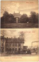 Almásfüzitő, Rách kastély, Kőolajfinomító gyár. Czilling Zsigmond és társa kiadása (W.L.?) (ázott sarok / wet corner)