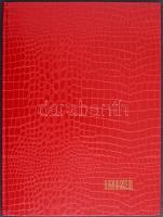 8 fekete lapos A/4 berakó piros borítóval