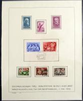 1945-1952 Magyar gyűjtemény több jobb kiadással, postatistákkal házi készítésű lapokon. Érdemes megnézni!!