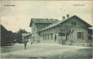 1918 Csáktornya, Cakovec; vasútállomás / railway station