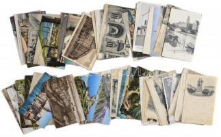 63 db RÉGI svájci város képeslap jó állapotban 1899-1939 között / 63 pre-1945 Swiss town-view postcards in good quality from between 1899-1939