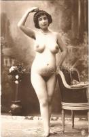 Meztelen erotikus terhes nő / Erotic nude pregnant lady. photo (non PC)
