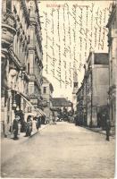 1915 Ceské Budejovice, Budweis; Wienergasse, Kaffee Central, Emma Zeiss, Panorama / street, cafe, shops (EK)
