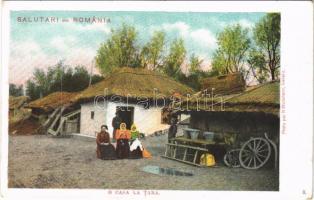 Salutari din Romania, O casa la Tara / Román népviselet, ház / Romanian folklore, house. Photo par H. Wichmann