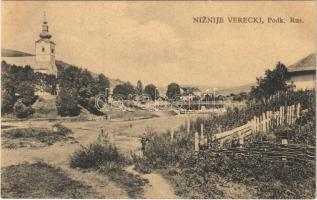 Alsóverecke, Niznije Verecki, Nizsnyi Vorota, Nyzhni Vorota; patakmente, templom / church