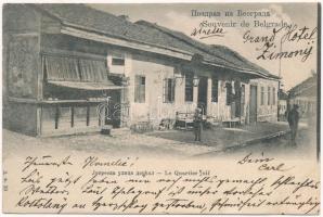 1903 Belgrade, Belgrád; Le Quartier juif / Jewish quarter. Judaica / zsidó negyed. Judaika
