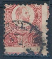 1871 Réznyomat 5kr kétoldali elfogazással / Mi 10 with shifted perforation