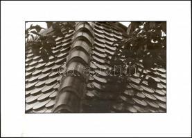 cca 1980 Marinkay István (1920-?) veszprémi fotóművész hagyatékából pecséttel jelzett vintage fotóművészeti alkotás (tető), 30x40 cm