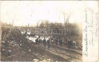 1906 Town of Brannan (Spirit, Wisc.), Decoration Day parade with American flags. photo (EK)