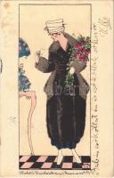 1918 Modell Zwieback. Wien, Kärtnerstrasse 11-15. / Austrian fashion store advertisement s: M.N. (fl)