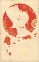 Az Orsz. Magy. Kir. Iparművészeti iskola levelezőlapjai. Ungarische Werkstätte no. 2010. Kiadja Rigler József Ede Rt. / Hungarian silhouette art postcard