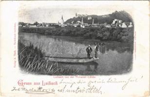 1899 (Vorläufer) Ljubljana, Laibach; Tirnauer Lände / Trnovo (EB)
