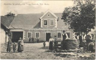1912 Velika Brda, Vel. Brdo; Gostilna in prodajalna Ivan Ludvik. M. Seber, Postojna / restaurant and shop