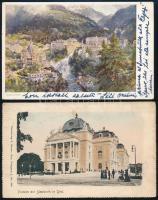 40 db külföldi városképes lap sok osztrákkal, közte pár modern / 40 foreign city view cards with more Austria and a few modern ones