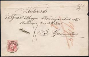 1867 5kr levélen / Mi 37 on cover SZÉCSÉNY + BÉRMENT. - BALASSA GYARMATH