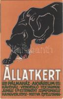 Budapest Székesfővárosi Állatkert reklámlapja / Budapest zoo advertisement art postcard