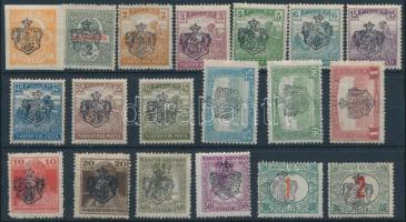 1919 19 klf bélyeg / 19 different private stamps