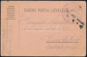 1917 Tábori posta levelezőlap / Field postcard K.U.K. KRIEGSMARINE / S.M. PATROUILLENBOOT B