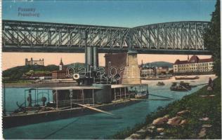 Pozsony, Pressburg, Bratislava; Dunai Flottilla hajója / Donauflottille / Hungarian Danube Fleet river guard ship