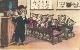 1934 Macska iskola / Cat school. ELA Radio No. 2.