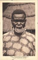 Tányérajkú négerek / French Negresses a Plateaux, French Equatorial Africa / African folklore, lip plate