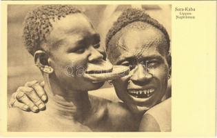 Tányérajkú négerek / Sara Kaba. Négresses a plateaux / Lippen-Negerinnen / African folklore, lip plate