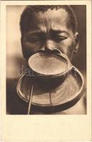 Tányérajkú néger / African folklore, lip plate (fl)