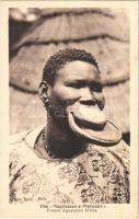 Tányérajkú néger / French Negresses a Plateaux, French Equatorial Africa / African folklore, lip plate (fl)