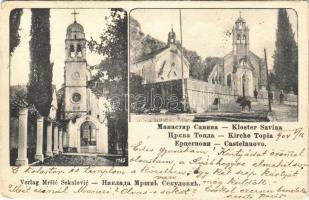 1904 Herceg Novi, Castelnuovo; Kloster Savina, Kirche Topla / monastery, church (EK)