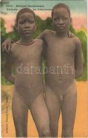 Afrique Occidentale, Enfants de Féticheurs / African folklore, nude children