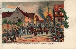 1870 Froeschwiller, Fröschweiler; Wilhelm, German Crown Prince, night litho