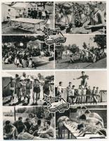1919-1957 KISZ Önkéntes Ifjúsági Tábor; Képzőművészeti Alap Kiadóvállalat / Hungarian Young Communist League, propaganda - 2 db modern képeslap / 2 modern postcards