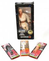 Star wars gyűjteménye: Luke Skywalker figura, Kenner + 2 db Pez eredeti csomagolásokban / Star Wars collection of figurines.