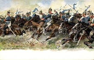 German cavalry soldiers s: Anton Hoffmann, Német lovas katonák s: Anton Hoffmann