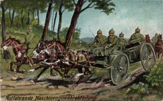 Auffahrende Maschinengewehrabteilung / machine gun unit s: Hoffmann, K.u.K. géppuska osztag s: Hoffmann