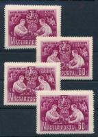 1950 Sakk I. 4 db sor (10.000)