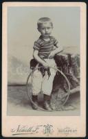 cca 1900 Budapest, Németh Ferenc fényképész műtermében készült, keményhátú vintage fotó, 10,9x6,8 cm