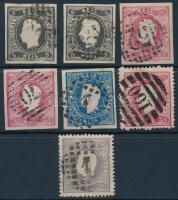 Portugália 1866-1867 7 db bélyeg (Mi EUR 308.-)