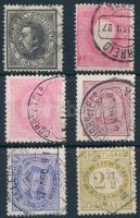 Portugália 1880-1886 6 db bélyeg (Mi EUR min 180.-)