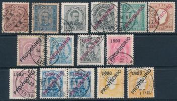 Portugália 1892-1893 15 db bélyeg (Mi EUR 1.070.-)
