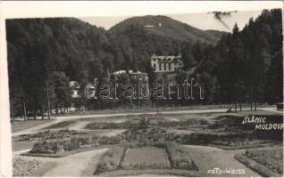 Slanic-Moldova, Szlanikfürdő; fürdő, szálló / spa, bath, hotel. Weiss photo