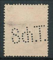 1909 Turul 10f Sch.T. perfin