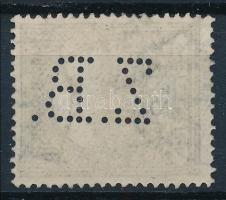 1909 Turul 12f Z.B. perfin
