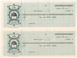~1930-1938. 4db kitöltetlen váltó, kettő aláírással + 1937-1940. 2db kitöltött váltó T:III