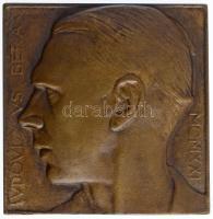 Berán Lajos (1882-1943) 1921. Ludovicus Berán - MCMXXI Berán Lajos éremművész önarcképe, egyoldalas, öntött Br plaketten (utánöntött?) (99x96mm) T:1-,2 HP 1226